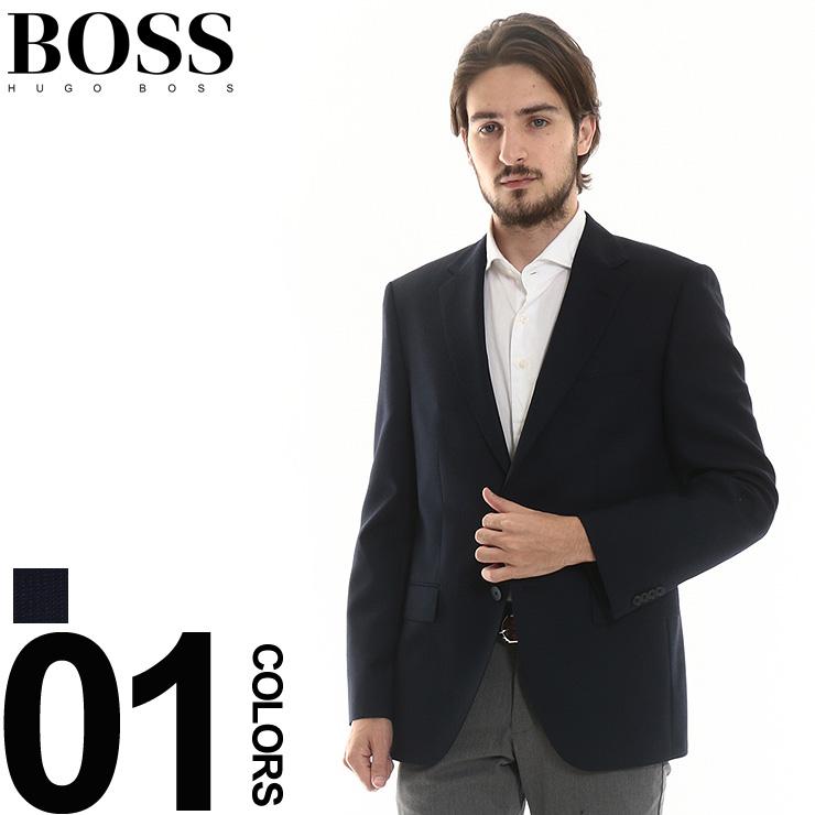 ヒューゴ ボス HUGO BOSS ジャケット ウール シングル 2B 2ツ釦 織り柄 ブランド ビジネス 紳士 メンズ テーラード ブレザー サイドベンツ HBJEWEL10204061 【newyear_d19】