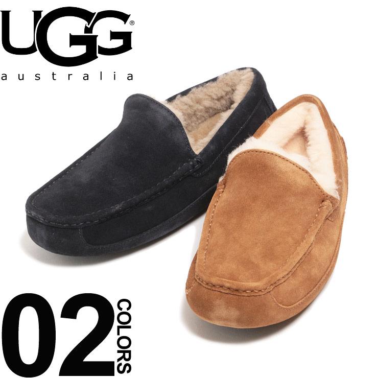 早割クーポン UGG Australia アグ オーストラリア メンズ ブランド シューズ アスコット ASCOT モカシン フラットシューズ 靴 贈り物 シープスキン ローファー ボア 撥水 UGG1101110 SALE_4_b スリッポン