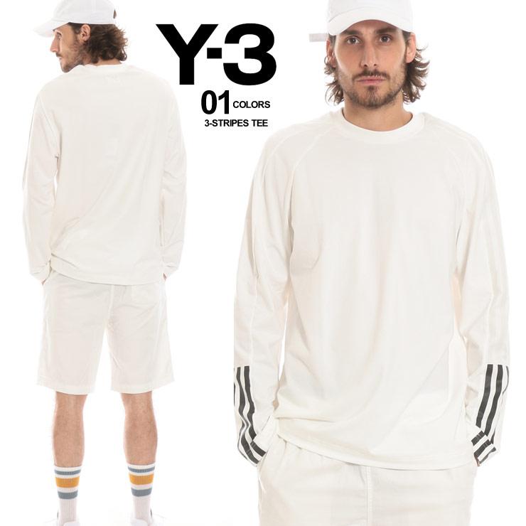 Y-3 ワイスリー ロンT スリーライン クルーネック 長袖 Tシャツ カットソー メンズ ブランド トップス Y3DP0493