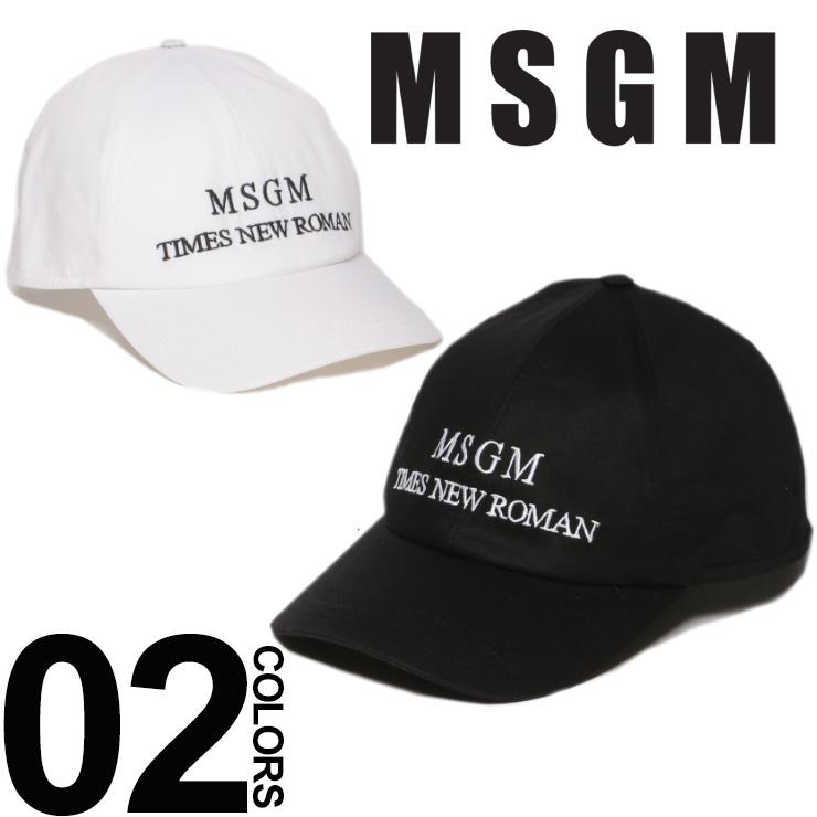 MSGM エムエスジーエム キャップ ロゴ マジックテープ アジャスター メンズ レディース ブランド 帽子 コットン ロゴ刺繍 MS2540ML05X 【endsale_18】