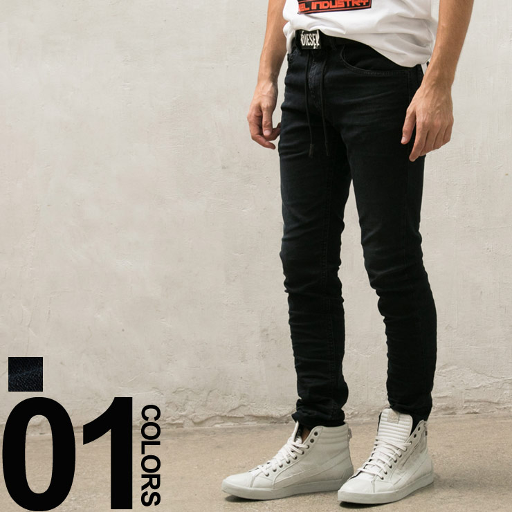 ディーゼル DIESEL ジョグジーンズ ストレッチ ジップフライ Jogg Jeans THOMMER メンズ ブランド ボトムス ジーパン デニム ウォッシュ加工 DSTHOMMERNE69CM 【endsale_18】