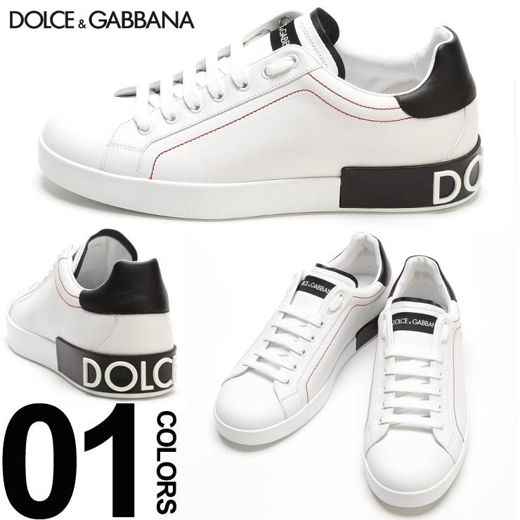 ドルチェ&ガッバーナ スニーカー メンズ DOLCE&GABBANA ドルガバ レザー ロゴ ローカット ブランド メンズ 靴 シューズ ホワイト DGCS1587AH526