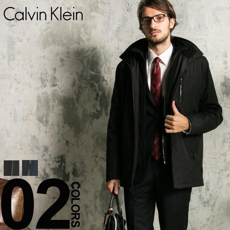 カルバン クライン Calvin Klein コート ナイロン スタンドカラー パーカー ハーフコート ブランド メンズ アウター コート フリース CKCM801073 【newyear_d19】