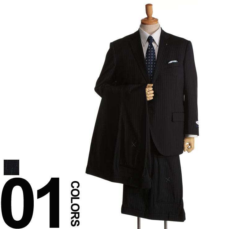 大きいサイズ メンズ Nature Code (ネイチャーコード) オールシーズン対応 ウール混 シングル 2ツ釦 ワンタック 2パンツ スーツ [TAB体 2KE体]