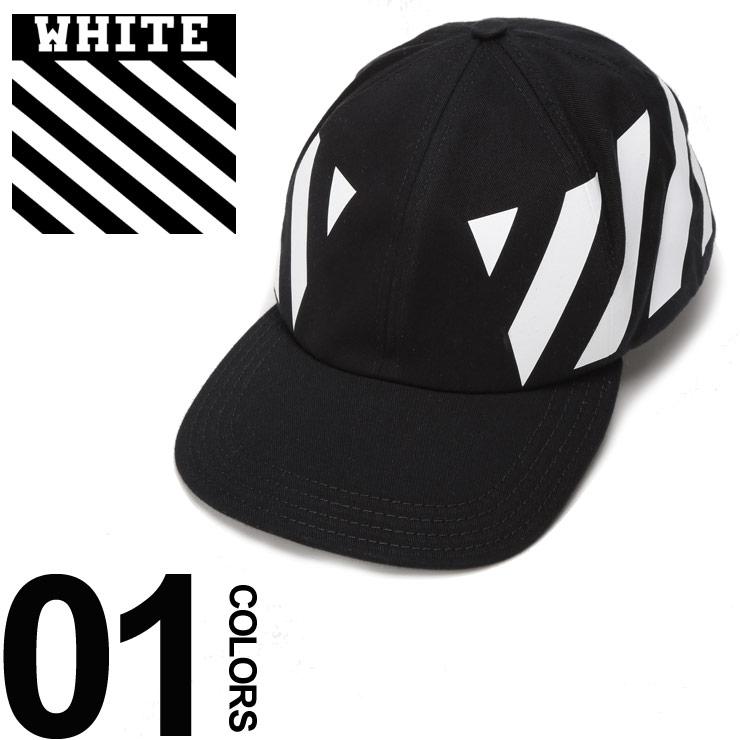 オフホワイト OFF-WHITE キャップ コットン プリント DIAGONALS ブランド メンズ 帽子 アジャスター OWLB08F18515049