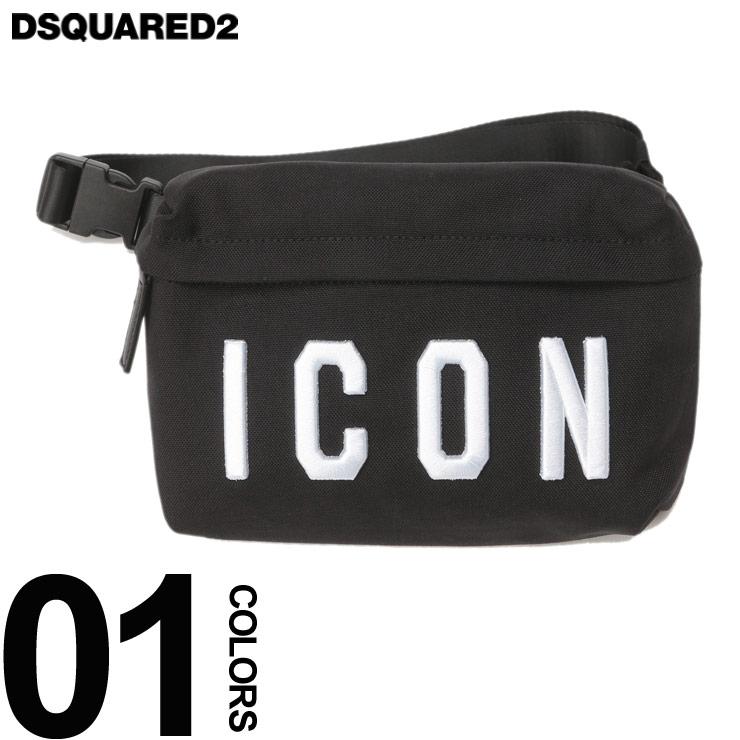 ディースクエアード ボディバッグ DSQUARED2 3D刺繍 ナイロン ウエストバッグ ブランド メンズ バッグ 鞄 ウエストポーチ D2BBM002117