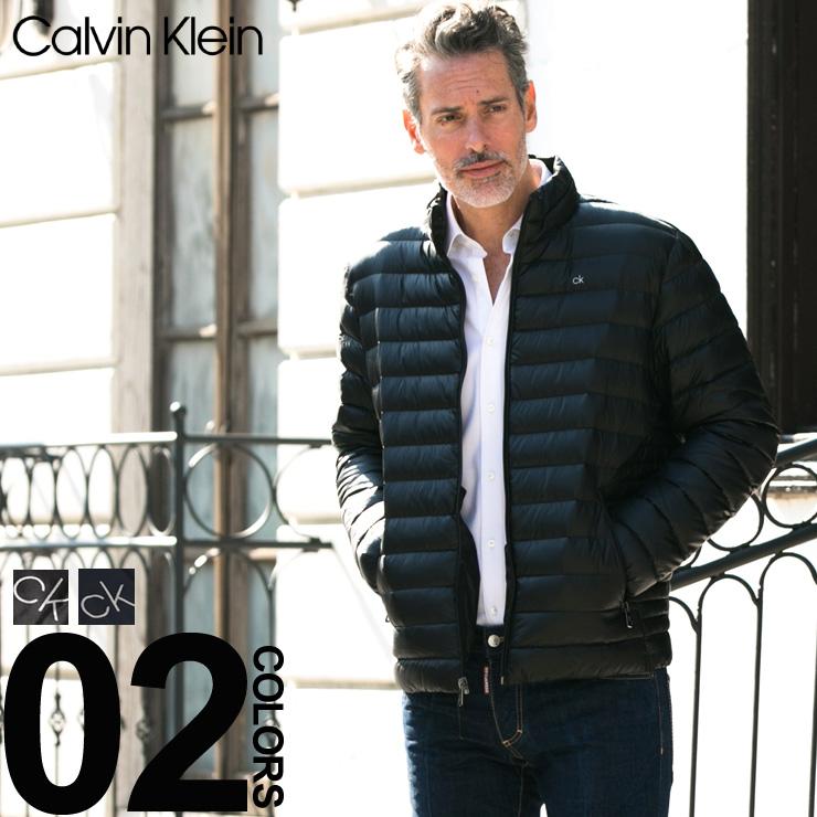 カルバン クライン ダウンジャケット Calvin Klein パッカブル ナイロン ライトダウン ブルゾン ブランド メンズ インナーダウン スタンドカラー CKCM812932F8 【newyear_d19】
