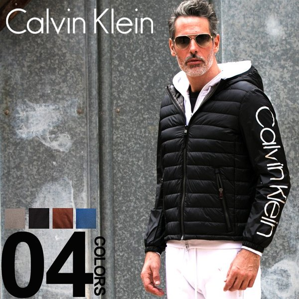 カルバン クライン Calvin Klein CK ナイロンジャケット 中綿 袖ロゴ パーカー フード ブルゾン ブランド メンズ アウター 袖切り替え CKCM813250 【newyear_d19】