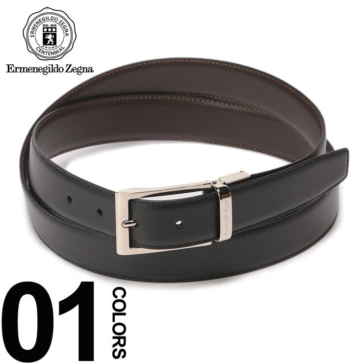 エルメネジルド ゼニア Ermenegildo Zegna ベルト レザー リバーシブル ブランド メンズ ビジネス 本革 EZZPJ45902NTM