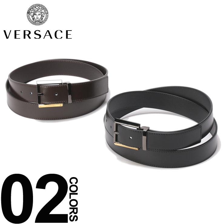 ヴェルサーチ VERSACE ベルト レザー ロゴバックル ブランド メンズ ビジネス レザーベルト 本革 VC91202S