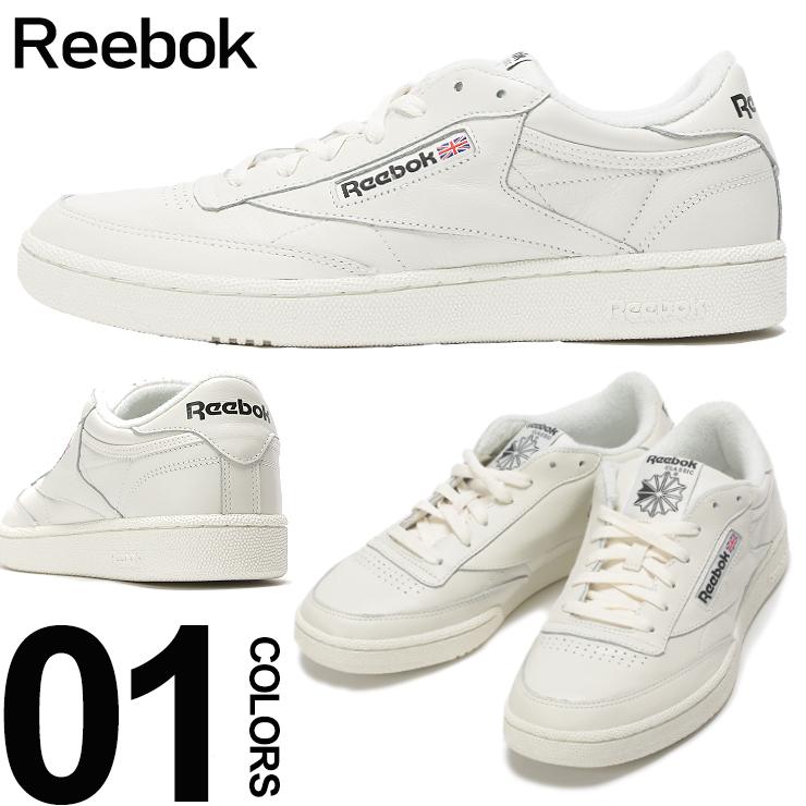 リーボック Reebok スニーカー レザー ロゴ クラブC CLUB C85 MU ブランド メンズ 靴 シューズ 革 テニス クラシック RBCN3924 【endsale_18】