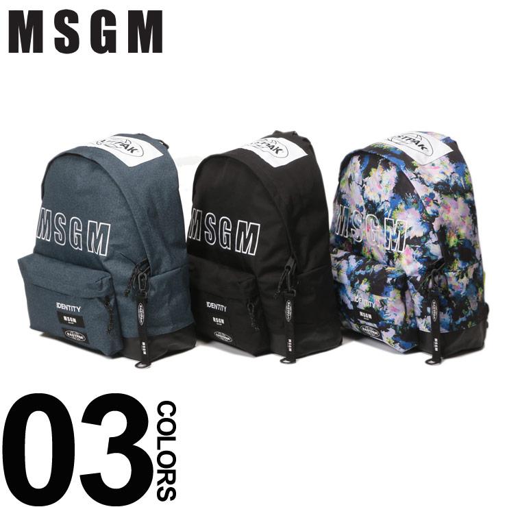 MSGM エムエスジーエム EASTPAK バックパック 2WAY リュックサック ブランド レディース メンズ デイパック バッグ MS2540MZ200