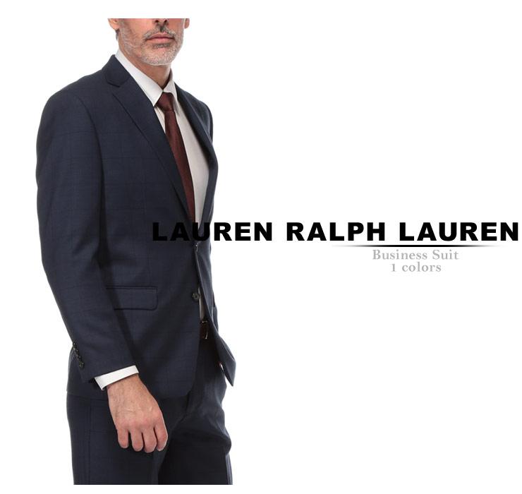 ローレン ラルフローレン スーツ LAUREN RALPH LAUREN ULTRA FLEX ウインドウペン シングル 2ツ釦 2B ブランド メンズ ビジネス ウール ノータック RL1RZ2533BeodCx