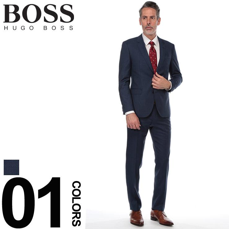 ヒューゴ ボス HUGO BOSS スーツ ジャガード シングル 2ツ釦 2B REGULAR FIT ブランド メンズ ビジネス ウール ノータック HBJS10206712 【newyear_d19】