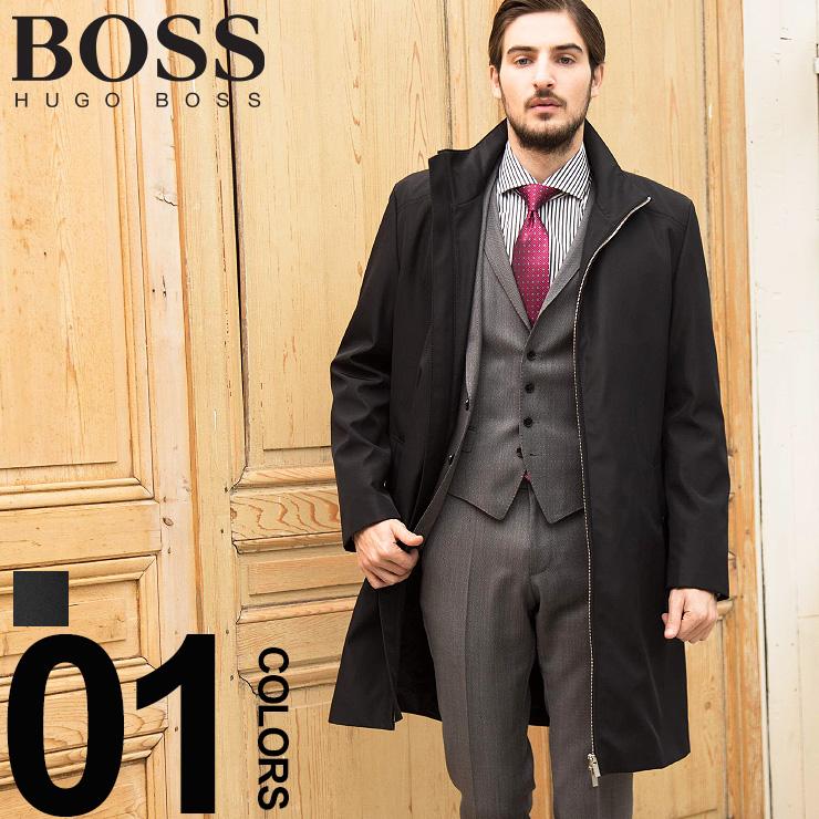 ヒューゴ ボス HUGO BOSS コート ナイロン スタンドカラー フルジップ ブランド メンズ ビジネス アウター HBRMOLTEDO9S 【newyear_d19】