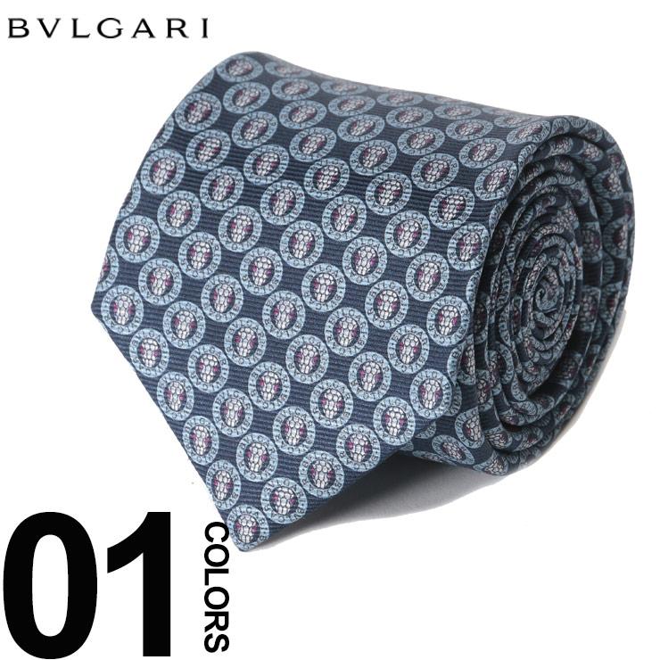 ブルガリ BVLGARI ネクタイ 総ロゴ ブランド メンズ ビジネス タイ シルク BLG243114F8