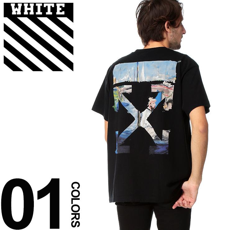 オフホワイト OFF-WHITE Tシャツ 半袖 バックプリント COLORED ARROW ブランド メンズ トップス クルーネック OWAA38R19185012