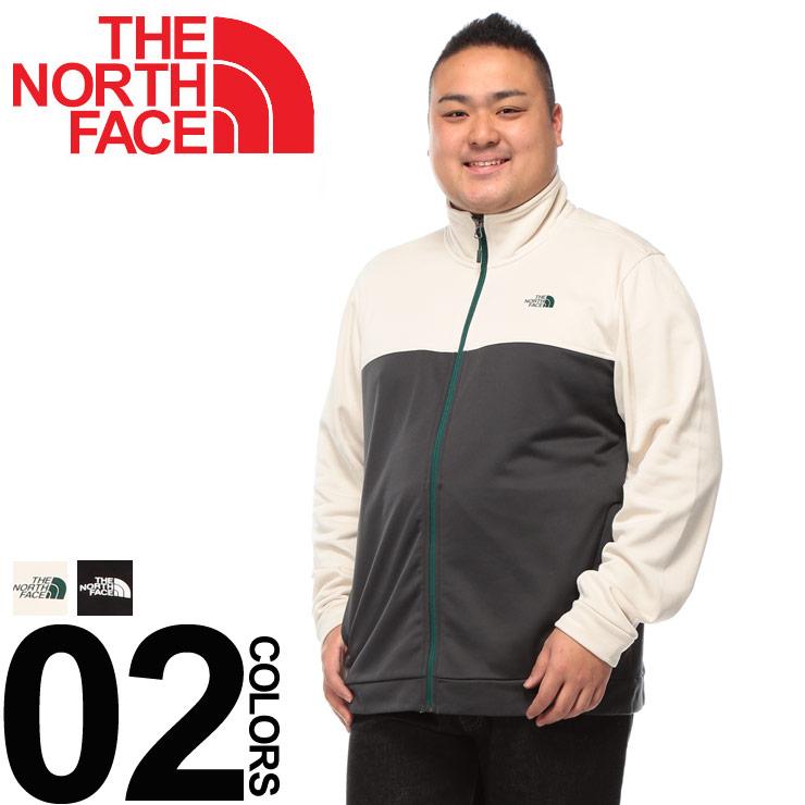大きいサイズ メンズ THE NORTH FACE (ザ ノースフェイス) 裏起毛 切り替え フルジップ トラックジャケット カジュアル アウター トップス スタンド アウトドア 暖かい BTHCTNF12D22