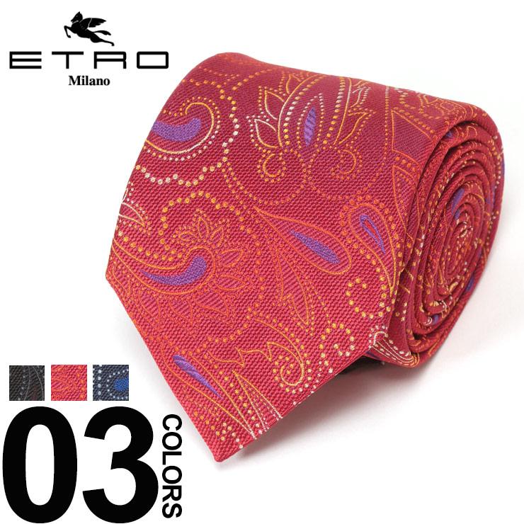 エトロ ETRO ネクタイ シルク ペイズリー柄 ブランド メンズ ビジネス タイ シルク ET120263015S9