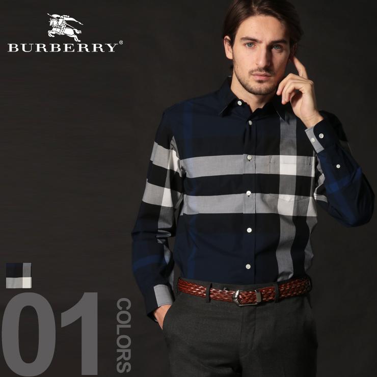 バーバリー BURBERRY シャツ 長袖 メガチェック レギュラーカラー コットン ストレッチ ブランド メンズ トップス BB8004828S9