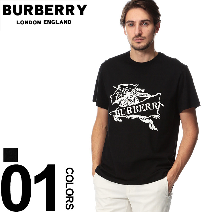 バーバリー BURBERRY Tシャツ 半袖 エクエストリアンナイト プリント クルーネック ブランド メンズ トップス BB8007016