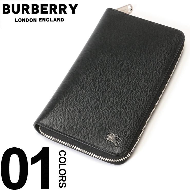 バーバリー BURBERRY 長財布 ラウンドジップ ロンドンレザー ロゴ ペンホルダー ブランド メンズ ビジネス ロングウォレット 本革 BB8006016