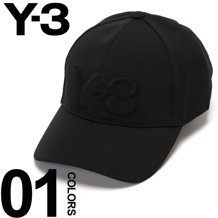 Y-3 ワイスリー キャップ ロゴ 刺繍 マジックテープ アジャスター 6パネル BLACK ブランド メンズ 帽子 Yohji Yamamoto Y3DY9346