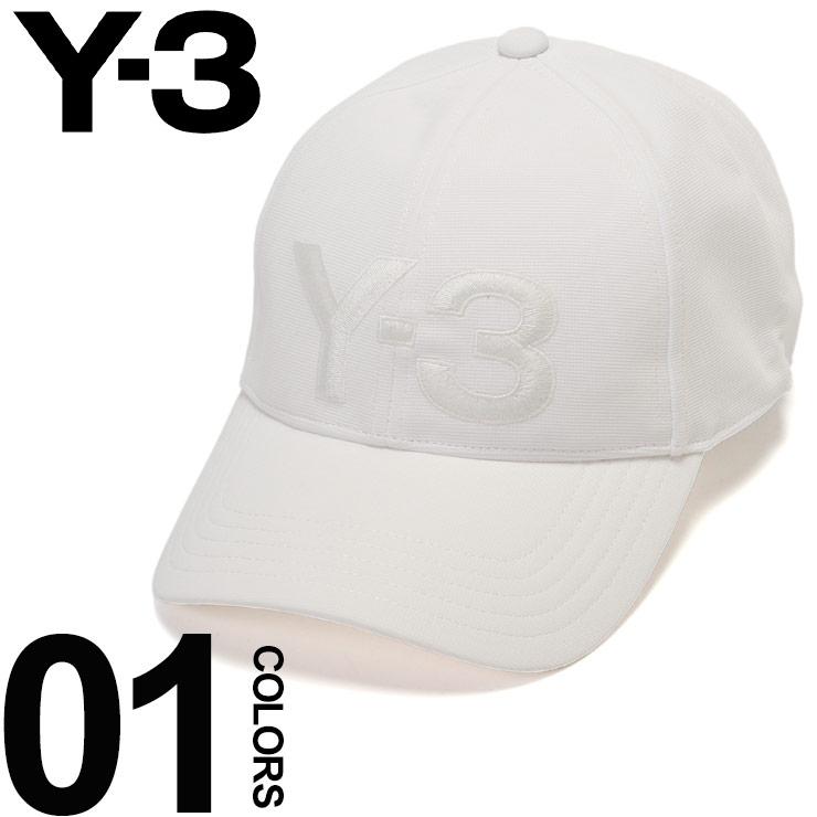 Y-3 ワイスリー キャップ ロゴ 刺繍 マジックテープ アジャスター 6パネル WHITE ブランド メンズ 帽子 Yohji Yamamoto Y3DY9345