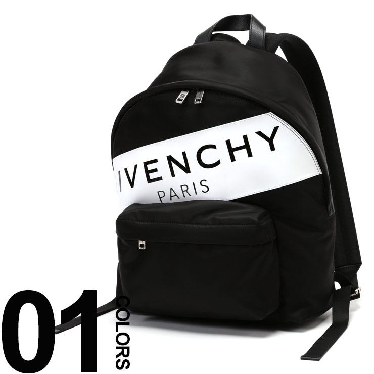 ジバンシィ GIVENCHY バックパック ロゴプリント レザーラベル ナイロン リュックサック ブランド メンズ レディース 鞄 バッグ GVBK500JK0FG