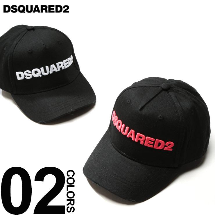 ディースクエアード DSQUARED2 キャップ 3D ロゴ 刺繍 アジャスター キャップ ダメージ加工 ブランド メンズ 帽子 D2BCM002805C