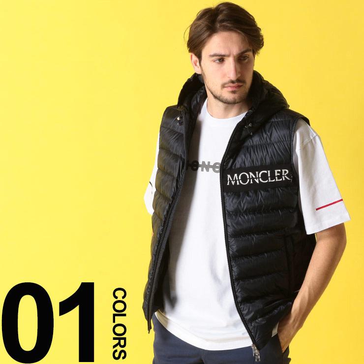 モンクレール MONCLER ダウンベスト パーカー ロゴ刺繍 LARUNS ラランス ブランド メンズ アウター ダウン ベスト フード MCLARUNS9