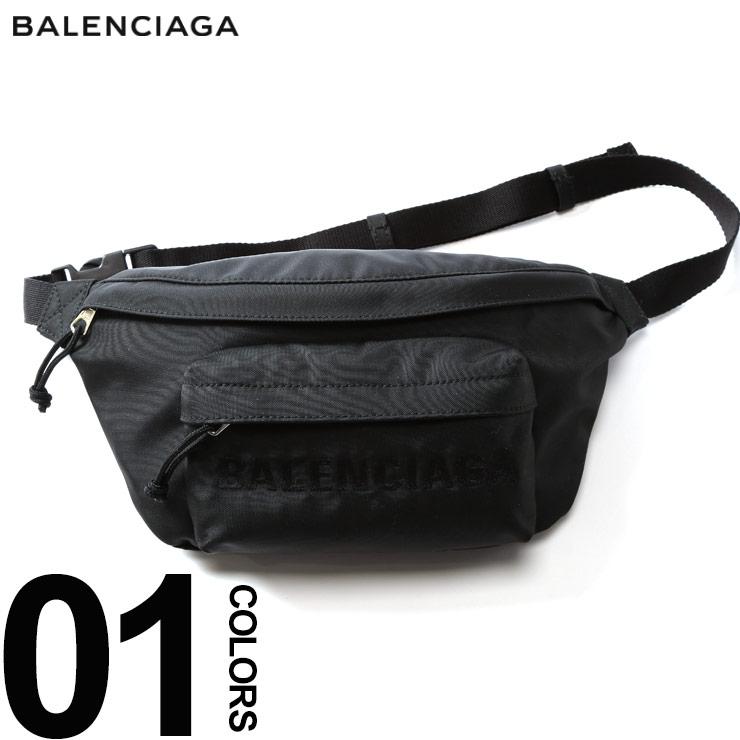 バレンシアガ BALENCIAGA ボディバッグ ロゴ 刺繍 WHEEL BELT PACK ブランド メンズ バッグ 鞄 ウエストポーチ ベルトパック BC5330099F91X