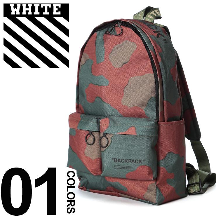 オフホワイト OFF-WHITE バックパック 迷彩 カモフラージュ リングジップ CAMOU ブランド メンズ バッグ 鞄 リュックサック デイパック OWNB03R19C36023