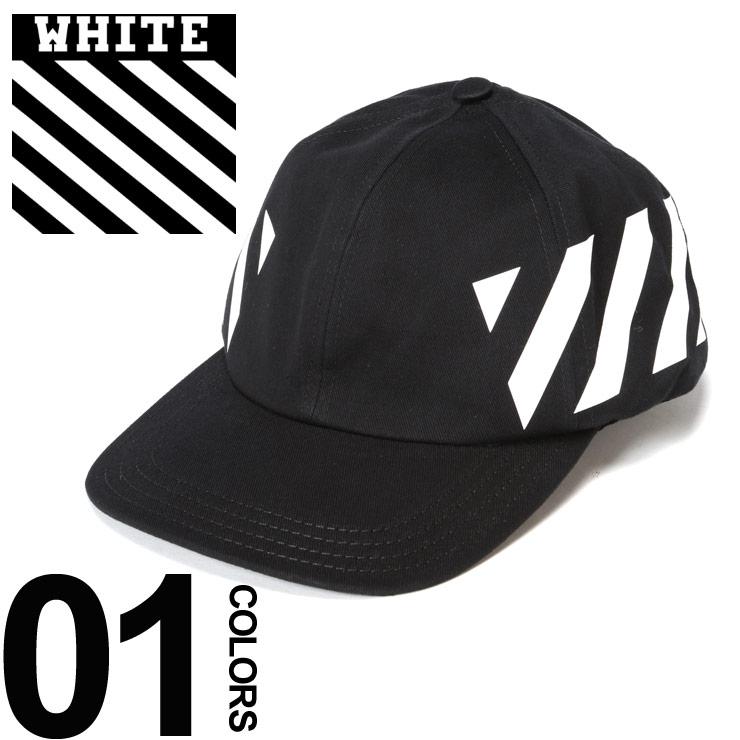 オフホワイト OFF-WHITE キャップ コットン プリント スナップバック DIAG ブランド メンズ 帽子 OWLB08R19400032
