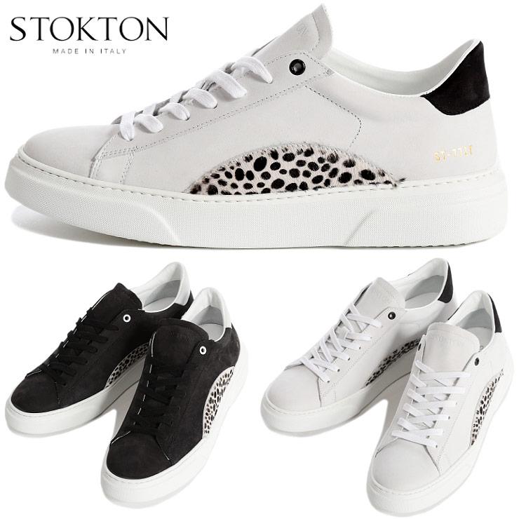ストックトン STOKTON スニーカー ヌバック レザー ハラコ ダルメシアン ローカット ブランド メンズ 靴 革 イタリア製 ST451U