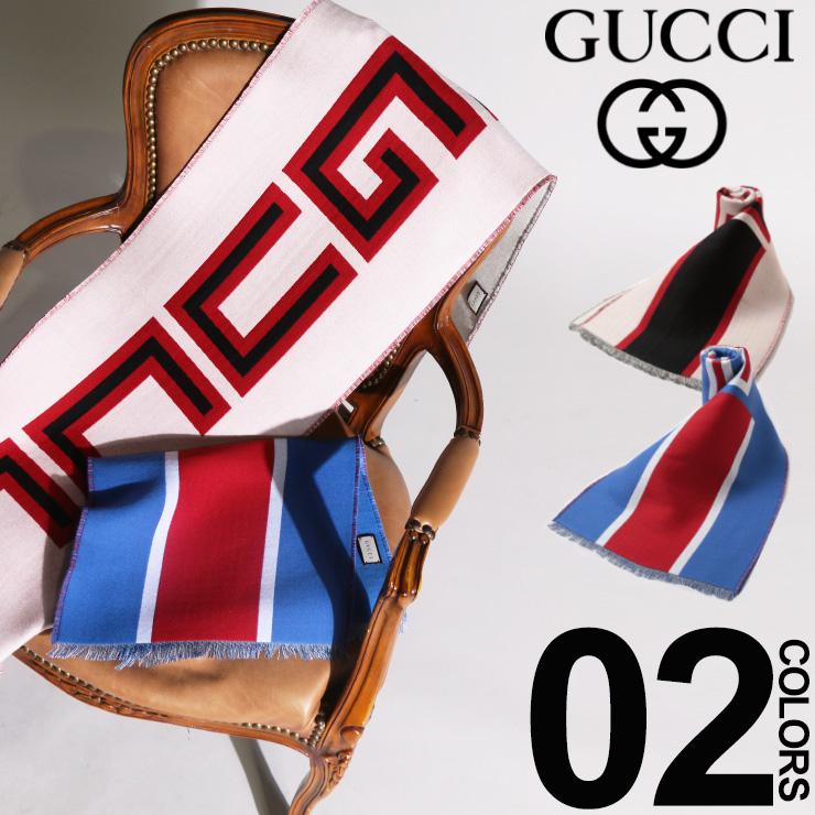 グッチ GUCCI マフラー ビッグ ロゴ ブランド レディース メンズ ウール シルク シルク混 GC5531164G636