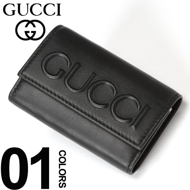 グッチ GUCCI キーケース レザー エンボス ロゴ 6連 ブランド メンズ 鍵入れ GC428781CWLWN