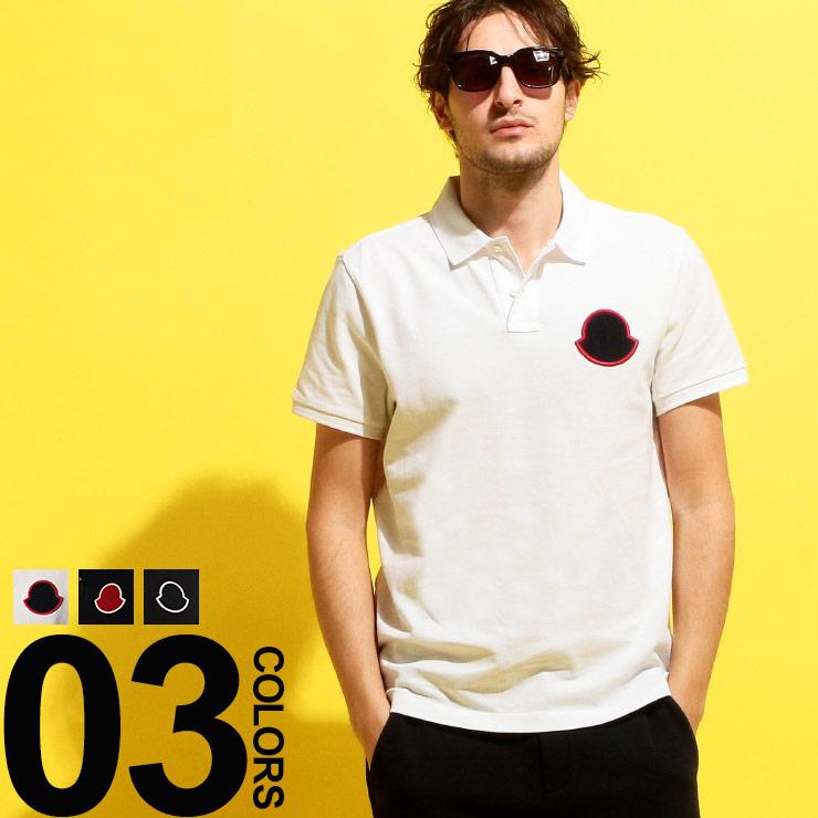 モンクレール MONCLER ポロシャツ 半袖 鹿の子 サガラロゴ ワッペン ブランド メンズ トップス MC832200084556
