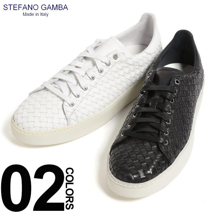 ステファノ ガンバ STEFANO GAMBA スニーカー レザー イントレチャート ローカット ビブラムソール ブランド メンズ 靴 シューズ イタリア製 SG5505