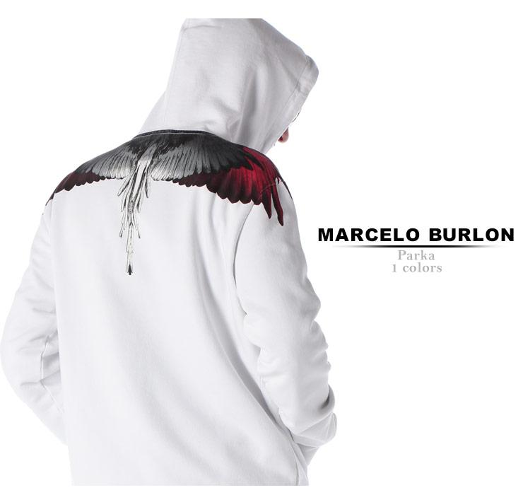マルセロ バーロン MARCELO BURLON パーカー スウェット ウイング プリント プルオーバー WINGS ブランド メンズ トップス フード MBBB07R19630018