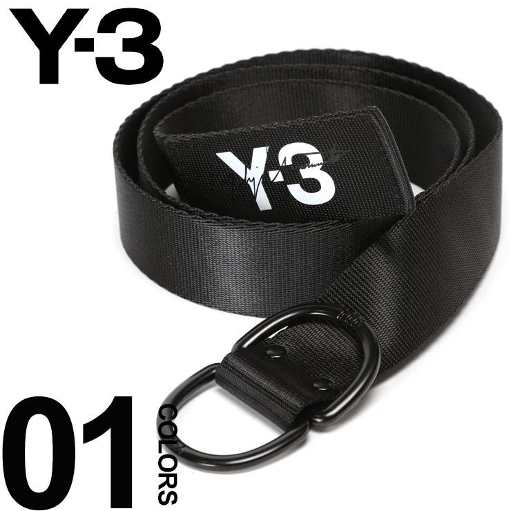 Y-3 ワイスリー ベルト ウェビング ウェブベルト ロゴ プリント ナイロン Dリング ブランド メンズ ダブルリング Y3DY0523