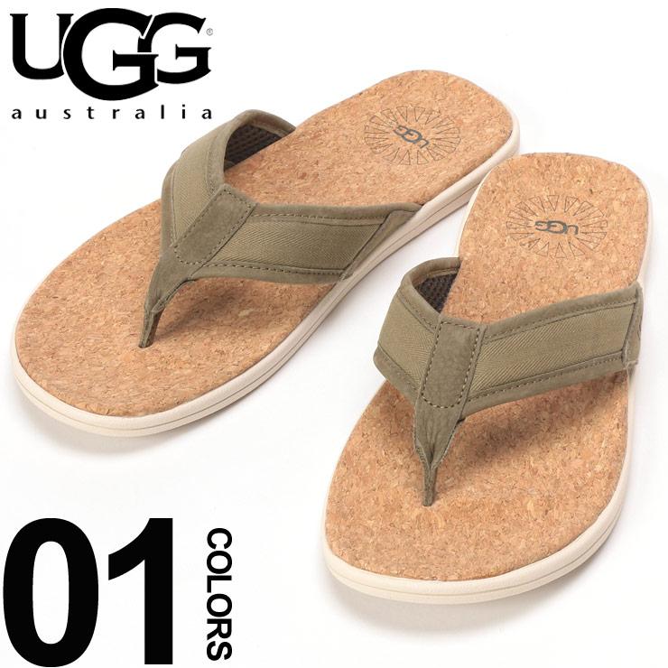 utterly stylish best supplier well known アグオーストラリア UGG Australia sandals tong strap back mesh cork SEASIDE FLIP  brand men beach sandal UGG1099749