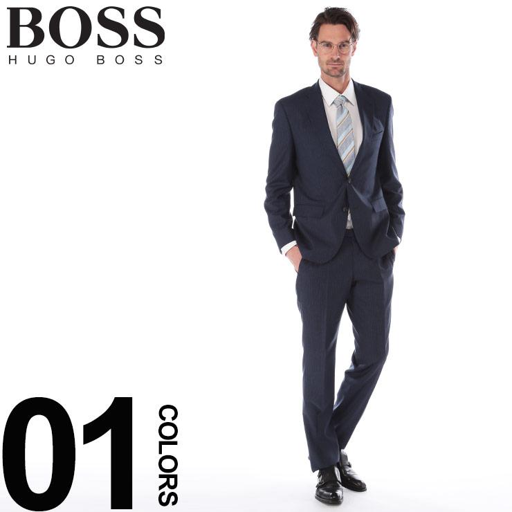 スーツ ストライプ ビジネス ウール BOSS ヒューゴボス HBJL10213898 SALE_2_d 2ツ釦 ブランド ネイビー ノータック 2B シングル メンズ HUGO