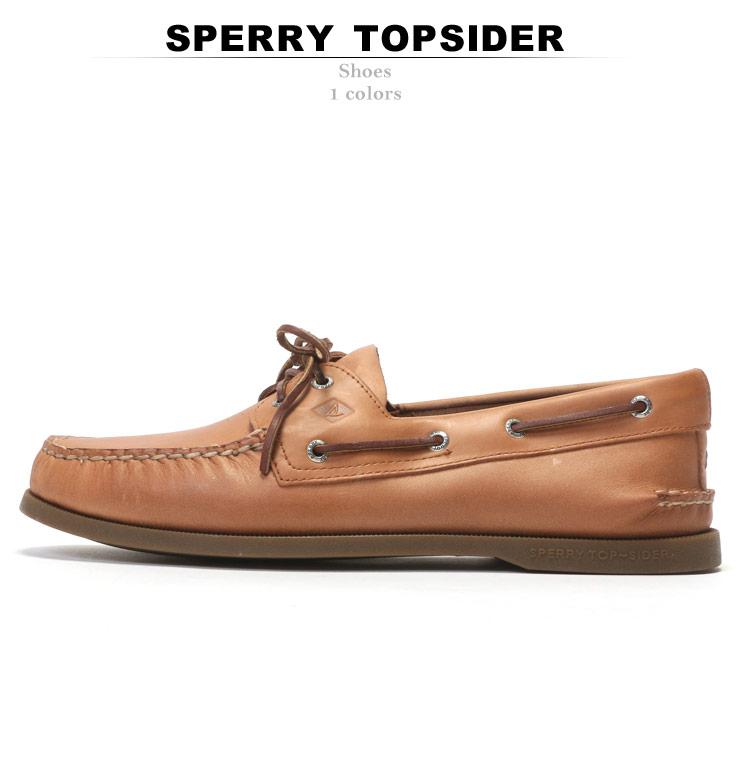 革 SPERRY TOPSIDER AUTHENTIC 2EYE BROWN メンズ 大きいサイズ サマー シューズ デッキシューズ ファッション カジュアル (スペリー トップサイダー) シンプル レザー 0197640