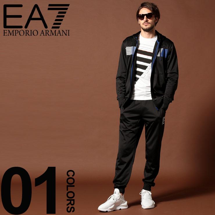 エンポリオ アルマーニ EA7 EMPORIO ARMANI セットアップ ジャージ上下 ロゴ パーカー パンツ ブランド メンズ 上下セット トラックトップ EA6GPV60PJ08Z