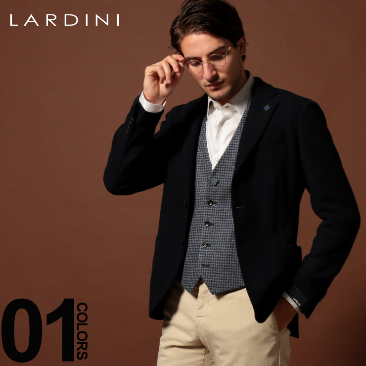 ラルディーニ LARDINI ジャケット ウール シングル ストレッチ 段返り3ツ釦 3B ブランド メンズ アウター テーラード LD902AEA53535