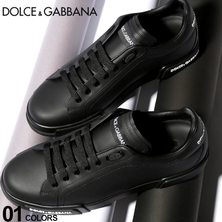 ドルチェ ガッバーナ DOLCE GABBANA ドルガバ スニーカー レザー ロゴ ローカット 黒 ブランド メンズ 靴 シューズ 革 DGCS1705AA335KlF1cJT