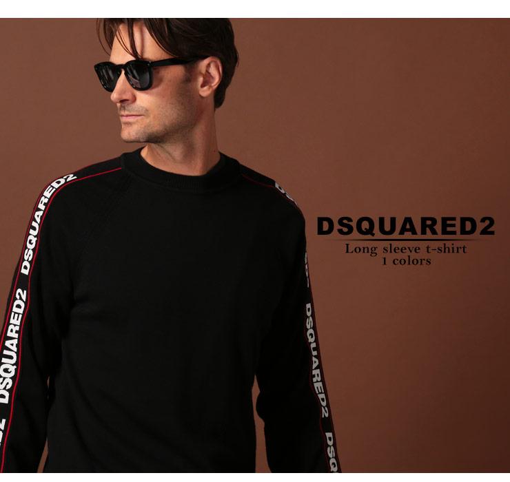 ディースクエアード DSQUARED2 ニット セーター ウール ロゴ クルーネック ブランド メンズ トップス ニットソー D2HA0906S16917