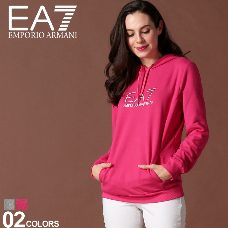 エンポリオ アルマーニ EA7 レディース EMPORIO ARMANI パーカー スウェット ロゴ プリント ラインストーン ブランド トップス EAL6GTM03TJ27Z SALE_8_a