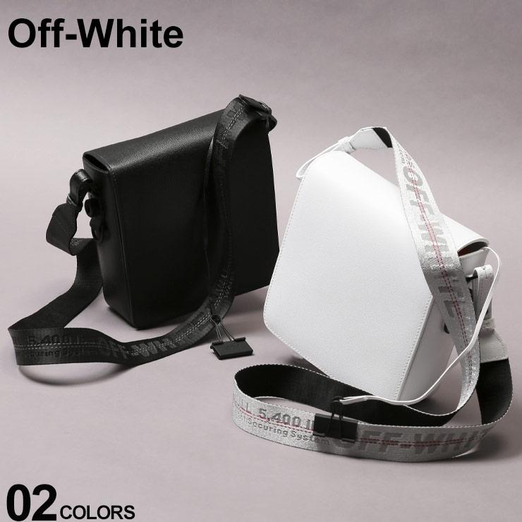 オフホワイト OFF-WHITE ショルダーバッグ レザー ロゴ ストラップ フラップ BINDERCLIP バインダークリップ ブランド メンズ レディース バッグ OWNA56E19423002 SALE_5_a
